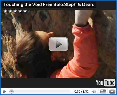 Look at... the video about Steph Davis free solo