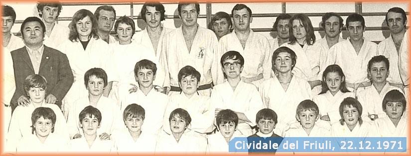 Judoka dal Tenri judo a Cividât